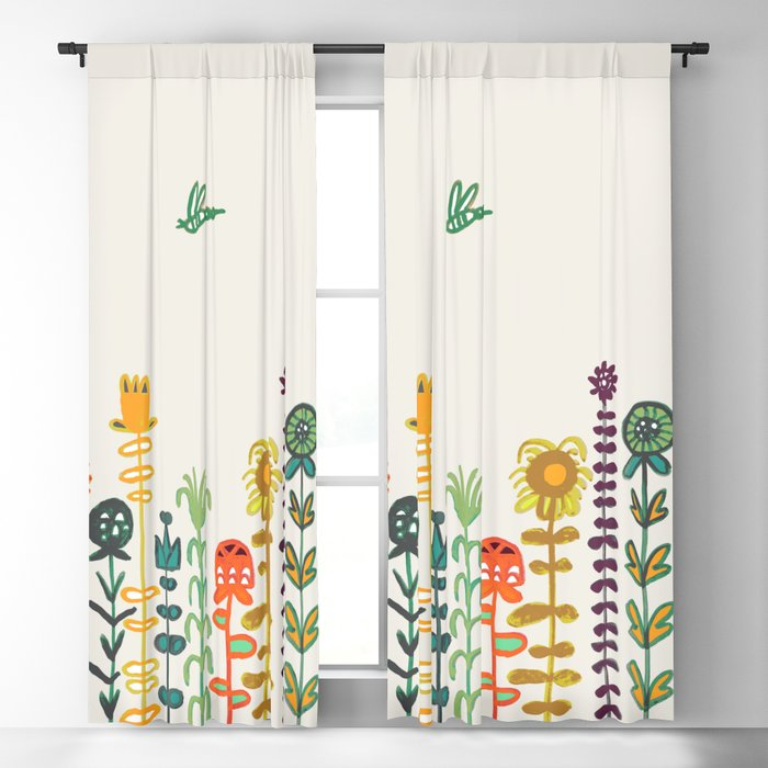 Happy garden Blackout Curtain