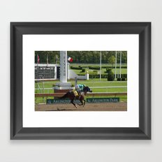 Finish Line Framed Art Print