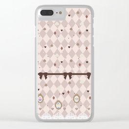 Alice's Tea Party Clear iPhone Case