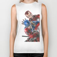 heroes Biker Tanks featuring Heroes  by Molly Thomas
