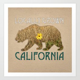 Locally Grown: California Art Print