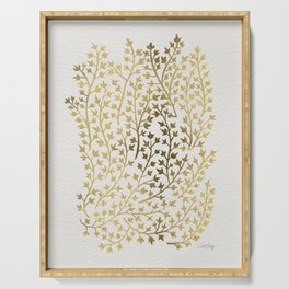 Gold Ivy Serving Tray