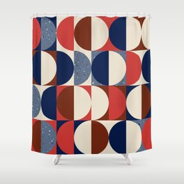 doo-wop it again (cape cod palette) Shower Curtain