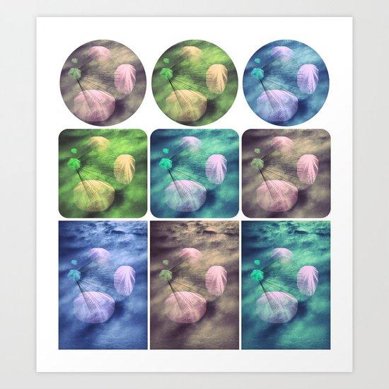 Spaced & Raining in Technicolor Art Print