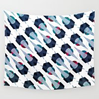 arya Wall Tapestries featuring Graphic Pattern - Geometric, Spacey, Angled by Hinal Arya