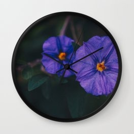 Morning Glory Couple - Floral Photography Wall Clock