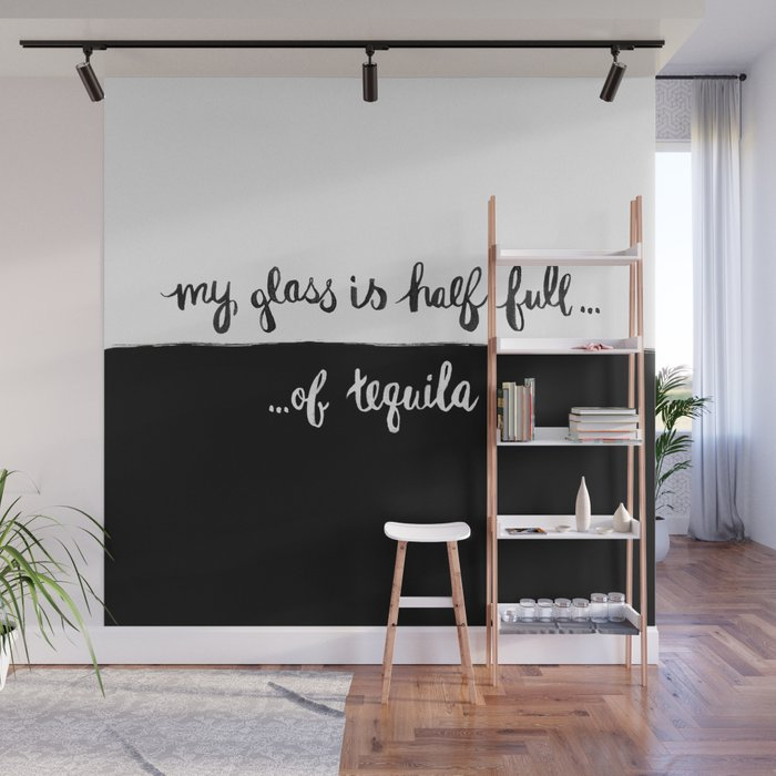 Glass half full Wall Mural by lenamirisola Society6