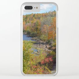 Adirondack Mountain Scenery Clear iPhone Case