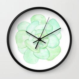 Crassula - Green Succulent Wall Clock