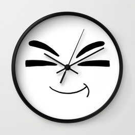 Drawn by hand a happy smile for children and adults Wall Clock