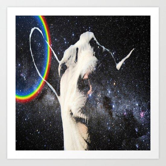 Space Goat Art Print