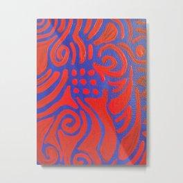 Rojo y Azul Metal Print