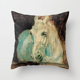 The White Horse Gazelle - Henri Toulouse-Lautrec Throw Pillow
