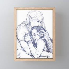 Who do I have to hurt?...Give me a name, Cherub. Framed Mini Art Print