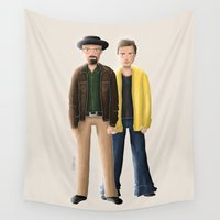 breaking bad Wall Tapestries featuring Breaking Bad by Sharin Yofitasari