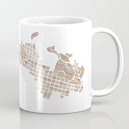 Aspen Colorado watercolormap Coffee Mug