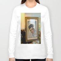 elvis Long Sleeve T-shirts featuring Elvis  by Alissa Fleck