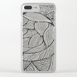 Zentangle #8 Clear iPhone Case