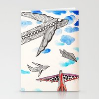airplane Stationery Cards featuring Airplane by Beatriz Chamussy