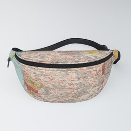 Gastronomy Map Of France 1932 Fanny Pack