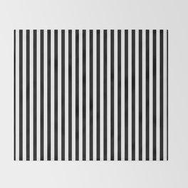 Black & White Stripe Throw Blanket