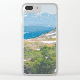 Alpine Mosses Clear iPhone Case