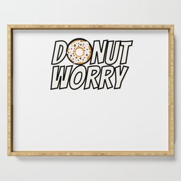 Donut Worry Serving Tray