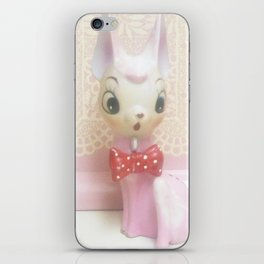 pink deer with lace iPhone Skin