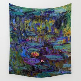 Water Lilies by Claude Monet Wall Tapestry