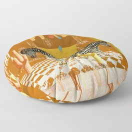 DESERT ZEBRA Floor Pillow