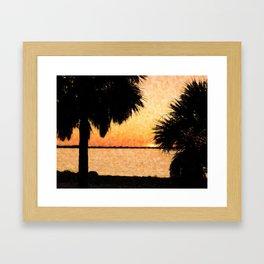 Palms View Of Sanibel Framed Art Print
