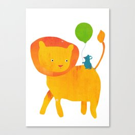 Lion and Mouse Canvas Print