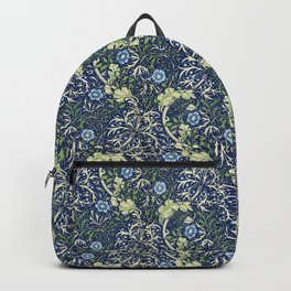 Blue Daisies by William Morris Backpack