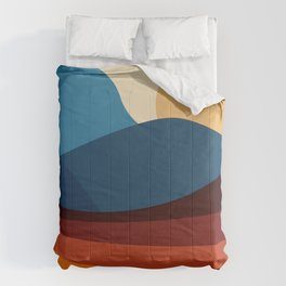 COLORFUL ABSTRACT LANDSCAPE ILLUSTRATION Comforters