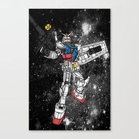 gundam Canvas Prints featuring Fly, Gundam! by Paul Reoyo