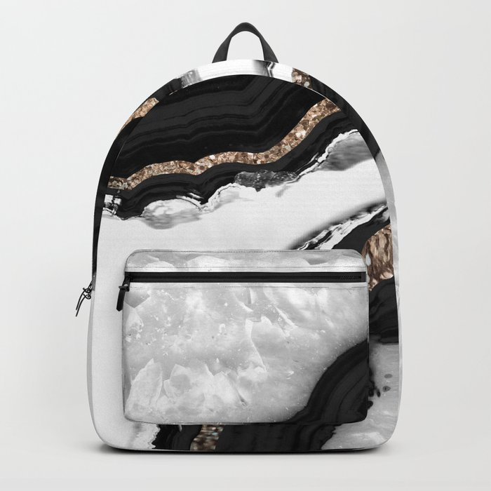 Agate Glitter Glam #2 #gem #decor #art #society6 Rucksack