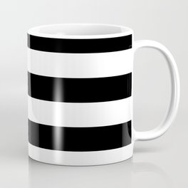 Black & White Stripes- Mix & Match with Simplicity of Life Coffee Mug