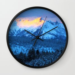 Electric Peak Wall Clock