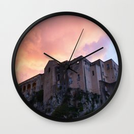 Tropea In Calabria At Sunset Wall Clock