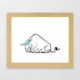 Black Bull of Winter Framed Art Print
