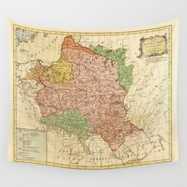 Kingdom of Poland and the Grand Dutchy of Lithuania Map (circa 1770) Wall Tapestry