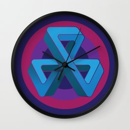 Tri-Tip Mobius Strip Wall Clock