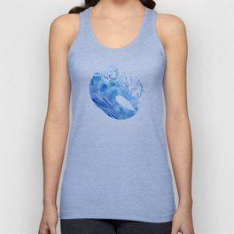 Blue Wave Unisex Tank Top