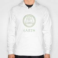 airbender Hoodies featuring Avatar Last Airbender Elements - Earth by bdubzgear