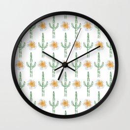 Saguaro Floral Pattern Wall Clock