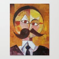 nietzsche Canvas Prints featuring Friedrich Nietzsche by Renee Bolinger