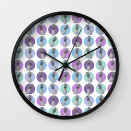 pastel pineapples Wall Clock