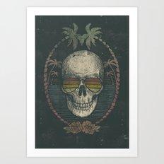 Palm Skull Art Print