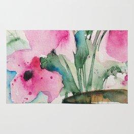 4 pink flowers Rug