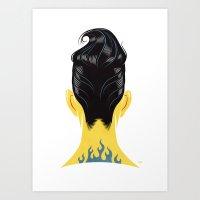 Head Cases, Tony Art Print